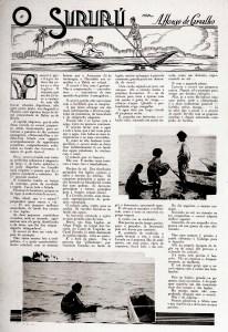 O Sururu foi publicado na Revista da Semana de 29 de março de 1930