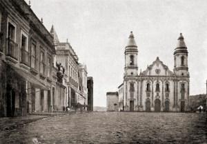 Praça da Matriz de Água Branca em 1921