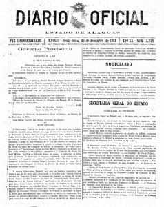 Edição de 1931 com a exoneração a pedido de Graciliano Ramos