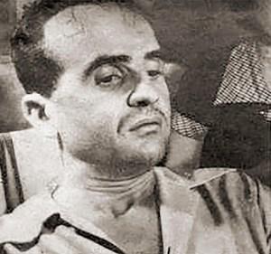 Oséas Cardoso na prisão. Foto de Indalécio Wanderley para O Cruzeiro