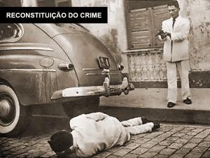 Reconstituição do crime. Foto de Indalécio Wanderley para O Cruzeiro