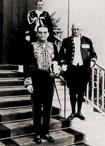 Araújo Jorge no Palácio Presidencial em Berlim após apresentar credenciais ao Presidente Hindemburg, a 18 de outubro de 1911