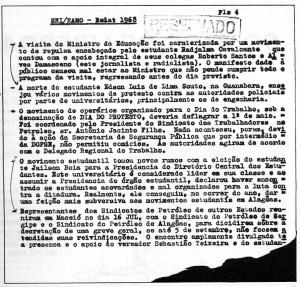 Jailson Bóia e Radjalma Cavalcante tiveram sua participação no movimento estudantil acompanhada pelos órgãos de repressão