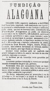 Anúncio da Fundição Alagoana no jornal O Orbe de 30 de março de 1983