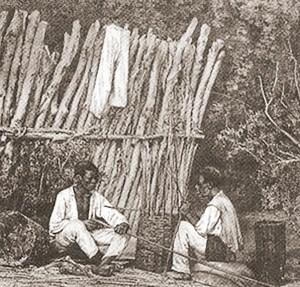 Balaios no Maranhão fotografia litografada de Victor Frond em 1859