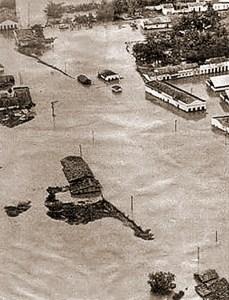 São José da Lage submersa em 1969