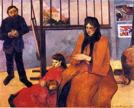 La familia Schuffnecker de Paul Gauguin