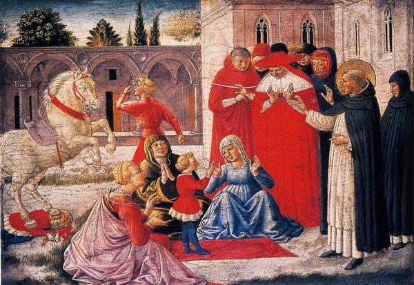 Milagro de Santo Domingo de Benozzo Gozzoli