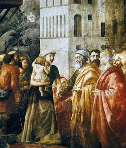 San Pedro y San Juan distribuyendo a los pobres de Jerusalén los bienes de la comunidad de Masaccio