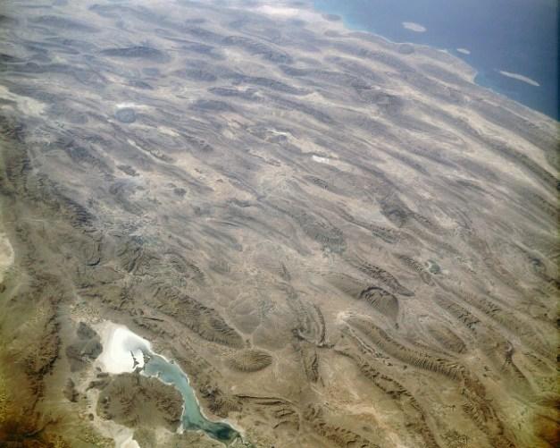 Foto satélite de los montes Zagros