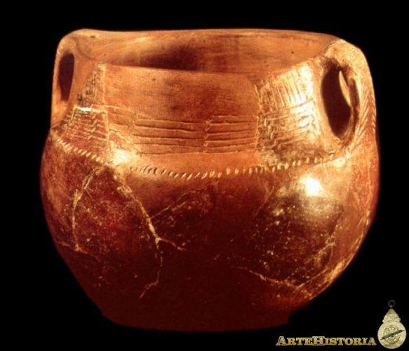 Pieza cerámica neolítica de la península Ibérica