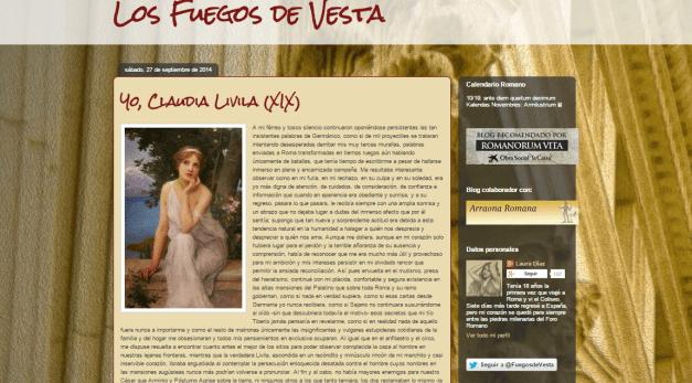 Captura de pantalla de uno de los artículos de este gran blog de Historia de la Antigua Roma