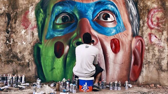 Grafitti en la ciudad de Berlin hecho por un artista grafitero