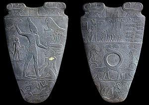 Anverso y reverso de la Paleta de Narmer