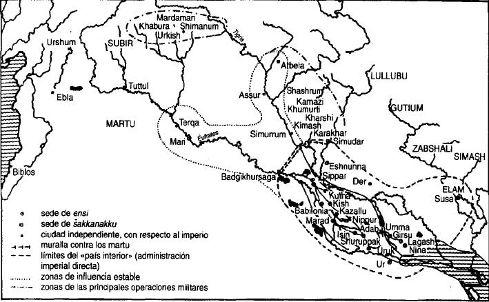 Mesopotamia durante la III Dinastía de Ur del imperio neosumerio