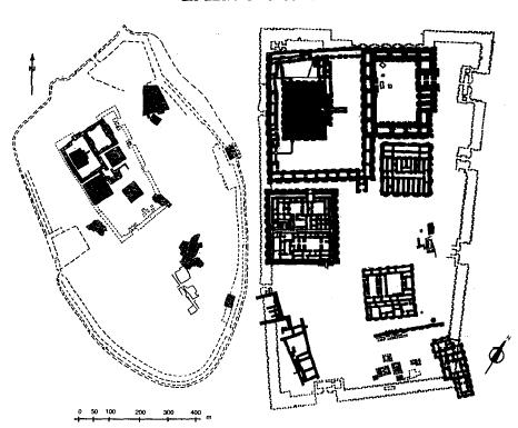 Planos esquemáticos de la ciudad de Ur durante la III Dinastía