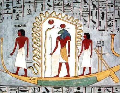 Iconografía de la barca solar, muestra de la adoración al sol en el antiguo Egipto