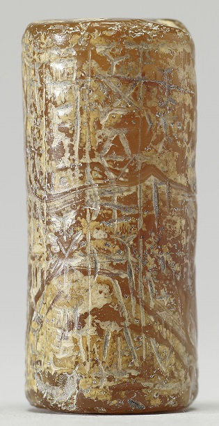 Sello cilíndrico contextualizado en la Babilonia casita