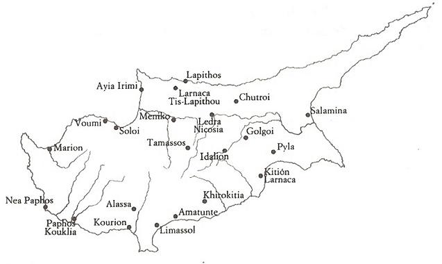 Colonias fenicias en la isla de Chipre