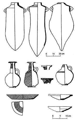 Dibujos basados en ejemplos reales de piezas cerámicas de fenicios