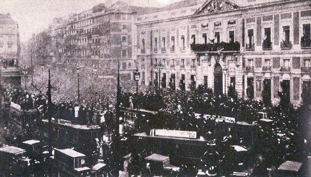 Proclamación de la II República en la Puerta del Sol de Madrid
