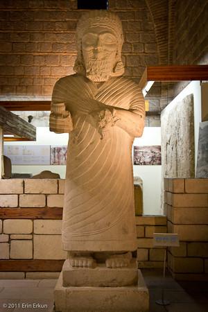 Estado actual de una estatua del rey hitita Muwatalli II