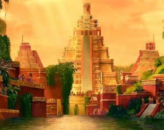 Ilustración idealizada de la legendaria ciudad de El Dorado