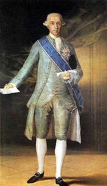 Conde Floridablanca, político al servicio de Carlos IV