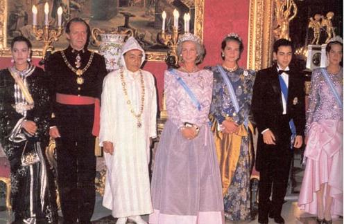 Foto de la visita del rey Hassan II de Marruecos en 1989