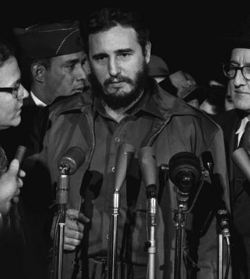 Fidel Castro en su visita a Washington