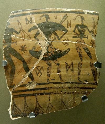 Fragmento de cerámica griega de finales de la Edad Oscura