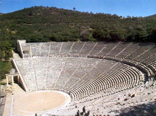 Estado actual del teatro de Epidauro, uno de los mejores ejemplos de teatro griego