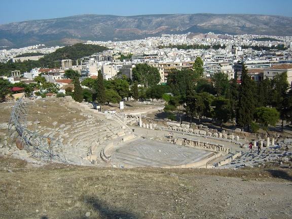 Estado actual del teatro Dionisos de Atenas