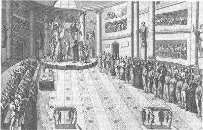 Reunión de las Cortes durante el Trienio Liberal, hecho clave de la Historia contemporánea de España