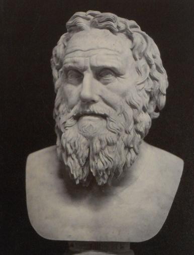 Busto que representaría a Licurgo, el mítico legislador espartano