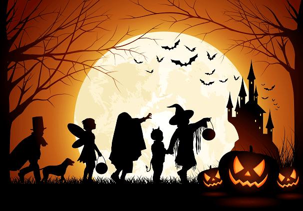Ilustración promocional del Halloween actual