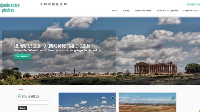 Captura de pantalla del blog Viajando entre piedras