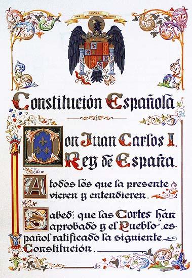 Facsímil de la constitución española de 1978