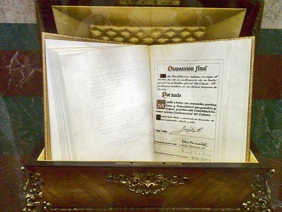 La Constitución española de 1978 en el Congreso de los Diputados