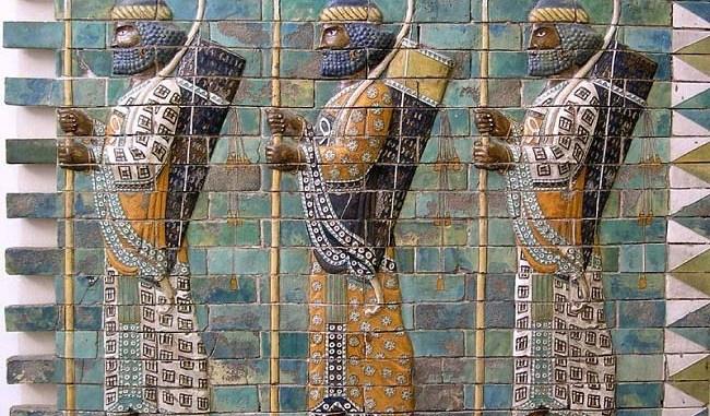 Representación de soldados persas, probablemente del ejército de inmortales