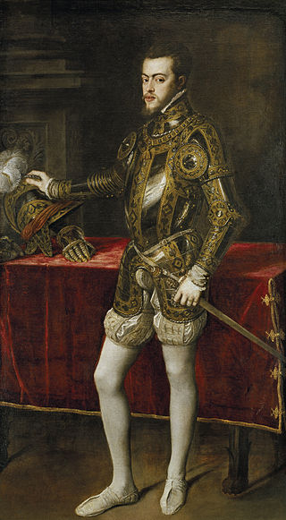 Retrato de Felipe II aun príncipe heredero hecho por Tiziano