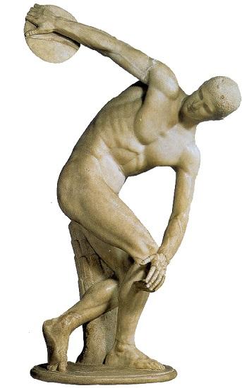 Copia romana del Discóbolo de Mirón