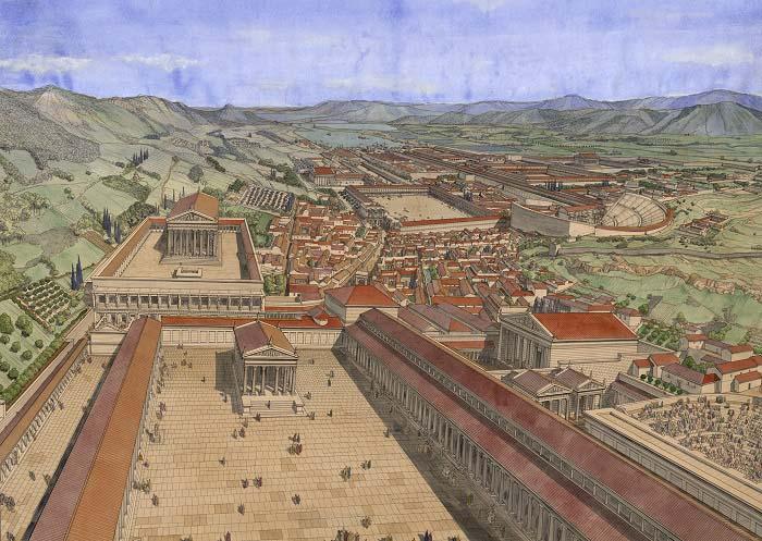 Reconstrucción de la ciudad de Éfeso hecha por Jean Claude Golvin