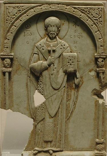 Relieve del siglo XI en el que se representa a Juan Crisóstomo