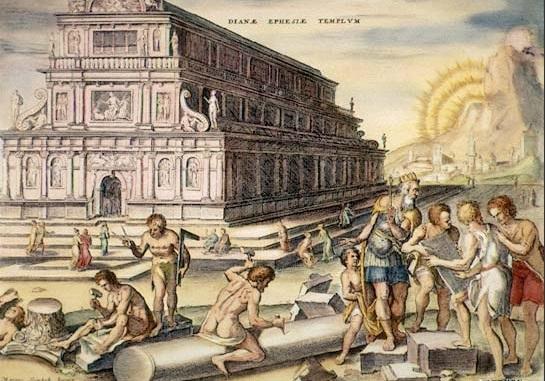 El templo de Artemisa, según van Heemskerck