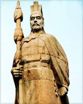 Estatua de Zhang Qian, uno de los que ayudaron a fundar la Ruta de la Seda