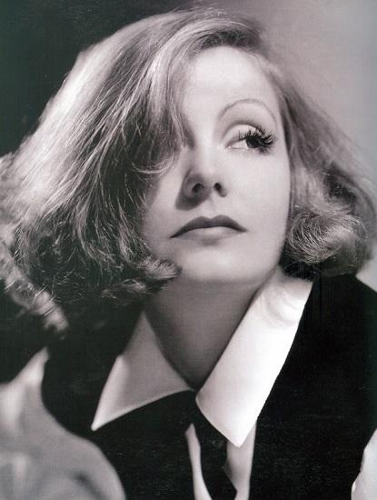 Fotografía de Greta Garbo, uno de los grandes mitos femeninos del cine clásico.