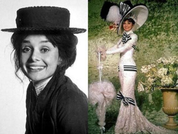 El antes y el después de Eliza Doolittle, el personaje interpretado por Audrey Hepburn en My fair lady