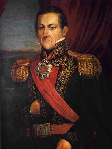 Juan Manuel de Rosas hacia 1850