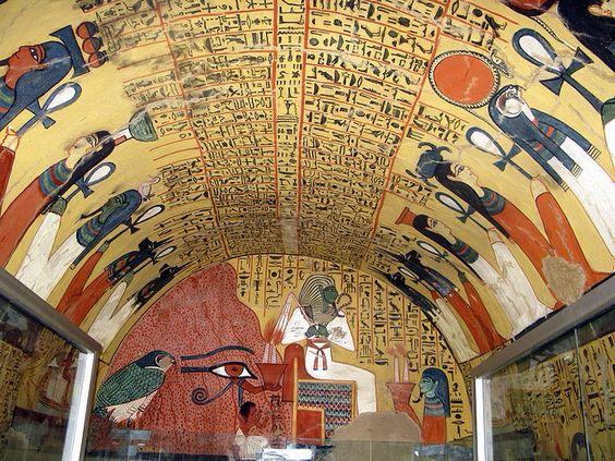 Escritura jeroglífica egipcia de la tumba de Pashedu